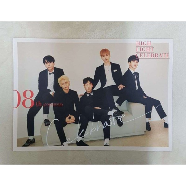 K-POP Highlight 2nd Mini Album [CELEBRATE] B Ver. OFFICIAL POSTER -NEW-